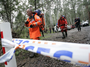 State Emergency Service volunteers search for missing state minister Tim Holding.