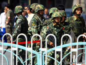 Chinese soldiers have been recently deployed on the streets of Urumqi  in northwest China.