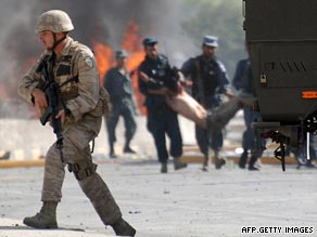 An Interior Ministry official said the victims of the suicide bomb blast at Kabul airport were all civilians.