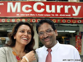 McCurry restaurant owners A.M.S.P Suppiah and his wife Kanageswary Suppiah.