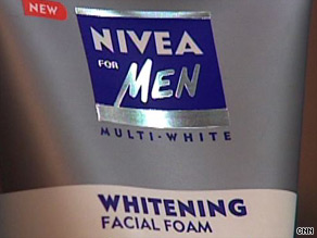 Nivea's skin whitener aimed at Asian men.
