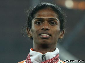 Santhi Soundarajan lost her 2006 Asian Games silver medal after failing a gender test.