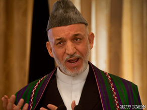 Karzai gives a news conference Thursday to defend his corner in the face of international allegations of vote fraud.