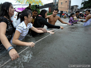 A resident of Quezon City says it rained for almost 24 hours straight, causing massive flooding.