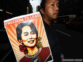 Aung Sang Suu Kyi was sentenced in August for breaching the terms of her house arrest.