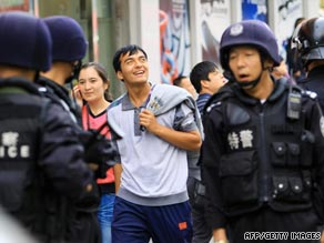 Security has been increased recently on the streets of Urumqi, Xinjiang's capital.