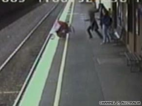 Baby survives after stroller falls under train