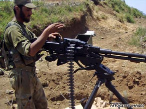 A Pakistani soldier pictured during operations against militants in June.