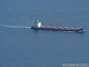 The Chinese-owned bulk carrier De Xin Hai was hijacked on October 19 with 25 crew members on board.