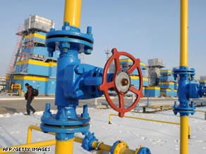 A gas-compressor and gas-holder station in Mryn, Ukraine. Gazprom has stopped supplying the country.