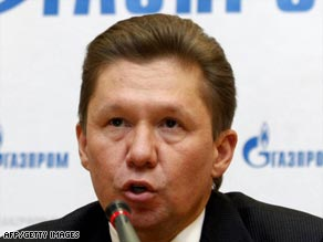 Gazprom chief executive Alexey Miller has accused Ukraine of siphoning gas meant for Europe.