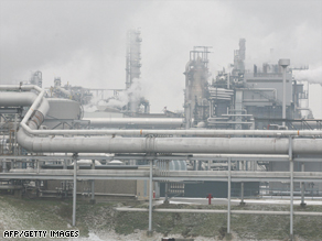Austria's OMV gas refinery -- one of Europe's largest -- received 10 percent of its normal gas deliveries.