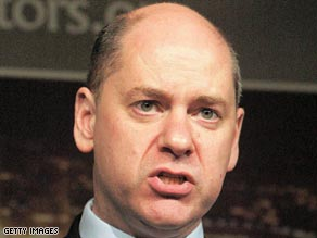 British security service chief Jonathan Evans says the global downturn could lead to more violence.