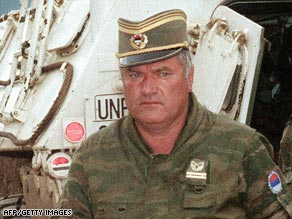 Ratko Mladic, pictured in 1993, is the highest-ranking figure from the conflict still at large.