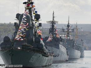 Russia's Black Sea fleet is based in Sevastopol under a lease agreement with Ukraine that expires in 2017.