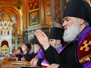 Russia Orthodox priests gather to pick the church's new leader.