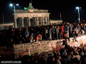 The fall of the Berlin Wall heralded the end of the communist regime in East Germany in 1989.