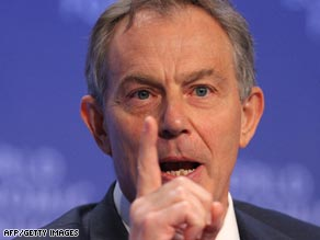 British ex-prime minister Tony Blair says issue of meeting details is current government's decision.