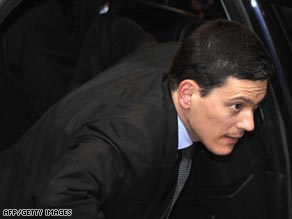 "David Miliband called the suspension of the British Council's work in Iran ""a matter of great regret."""