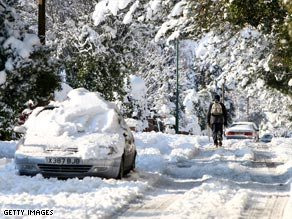 Britain is suffering its coldest winter in almost two decades, with heavy snow falls causing havoc.
