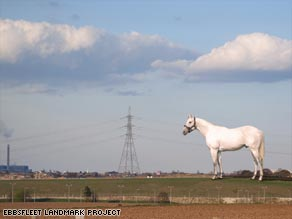 The 50-meter high horse will dominate the landscape around Ebbsfleet.