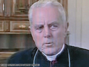 "Pope Benedict XVI has ordered Williamson to ""distance himself"" from his views."