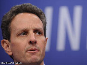 U.S. Treasury Secretary Timothy Geithner is calling on governments to help restart the flow of credit.