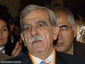 Democratic Society Party leader Ahmet Turk