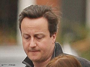 David Cameron leaves the family home after the death of his 6-year-old son on February 25.