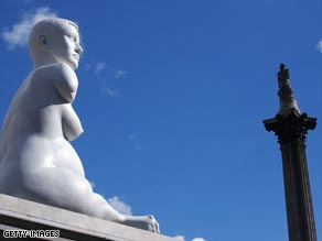 "Marc Quinn's work ""Alison Lapper Pregnant"" caused a stir when it was unveiled on the fourth plinth."