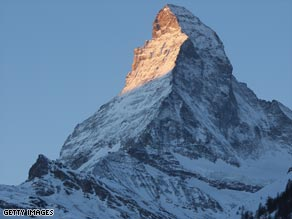 Glaciers in the Alps near the Matterhorn are receding, forcing the border to be redrawn.