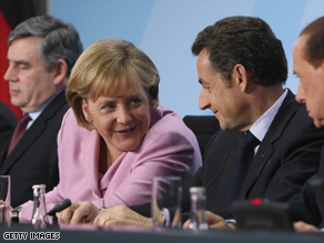 Gordon Brown (left to right), Angela Merkel, Nicolas Sarkozy and Silvio Berlusconi are among world leaders attending this week's G-20.