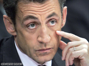 "French President Nicolas Sarkozy seeks ""stronger rules"" for international commerce, a spokesman says."