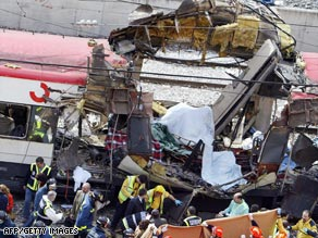 The rush-hour train bombings killed 191 people and wounded 1,800 others.