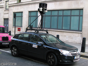 One of Google's Street View camera cars capturing images in central London.