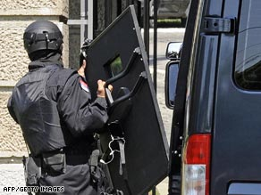 A man armed with two grenades has entered Serbia's presidency building.