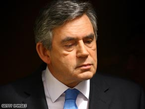 British PM Gordon Brown's Labour Party is at a historic low in the opinion polls.