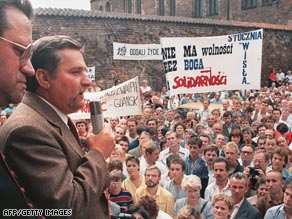 Solidarity leader Lech Walesa