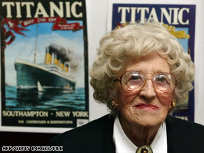 Millvina Dean was just an infant when the RMS Titanic sank.