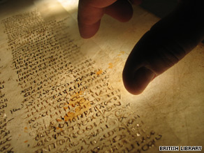 The British government bought most of the pages of the ancient manuscript in 1933