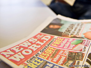Britain's News of the World tabloid is at the center of the phone-hacking allegations.