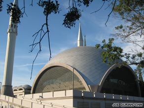 When sun reflects off Sakirin Mosque's dome, light can be seen across the Bosphorus Strait.