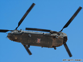 Britain's opposition leader said only 30 of the UK military's 500 helicopters are being used in Afghanistan.