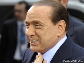 Veronica Lario, the wife of Italian Prime Minister Silvio Berlusconi, pictured, filed for divorce in May.