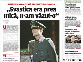 Radu Mazare, the mayor of the town of Constanta, wore a Nazi uniform during a fashion show over the weekend.