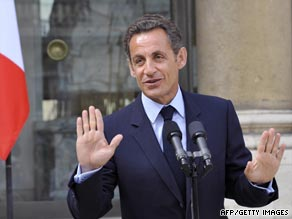 Fitness fanatic Sarkozy is often photographed jogging with bodyguards.