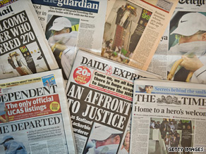 Newspapers in both the UK and the U.S. have broadly been critical of Al Megrahi's release.