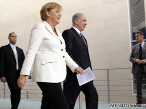 German Chancellor Angela Merkel and Israeli PM Benjamin Netanyahu meet in Berlin on Thursday