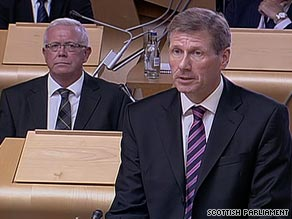 "Scottish Justice Secretary Kenny MacAskill says he followed ""due process"" in releasing Lockerbie bomber."