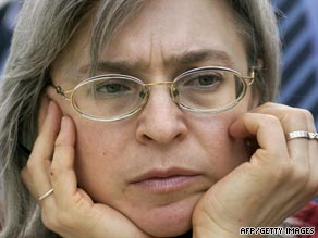 Murdered Russian human rights advocate and journalist Anna Politkovskaya, shown here in 2005.